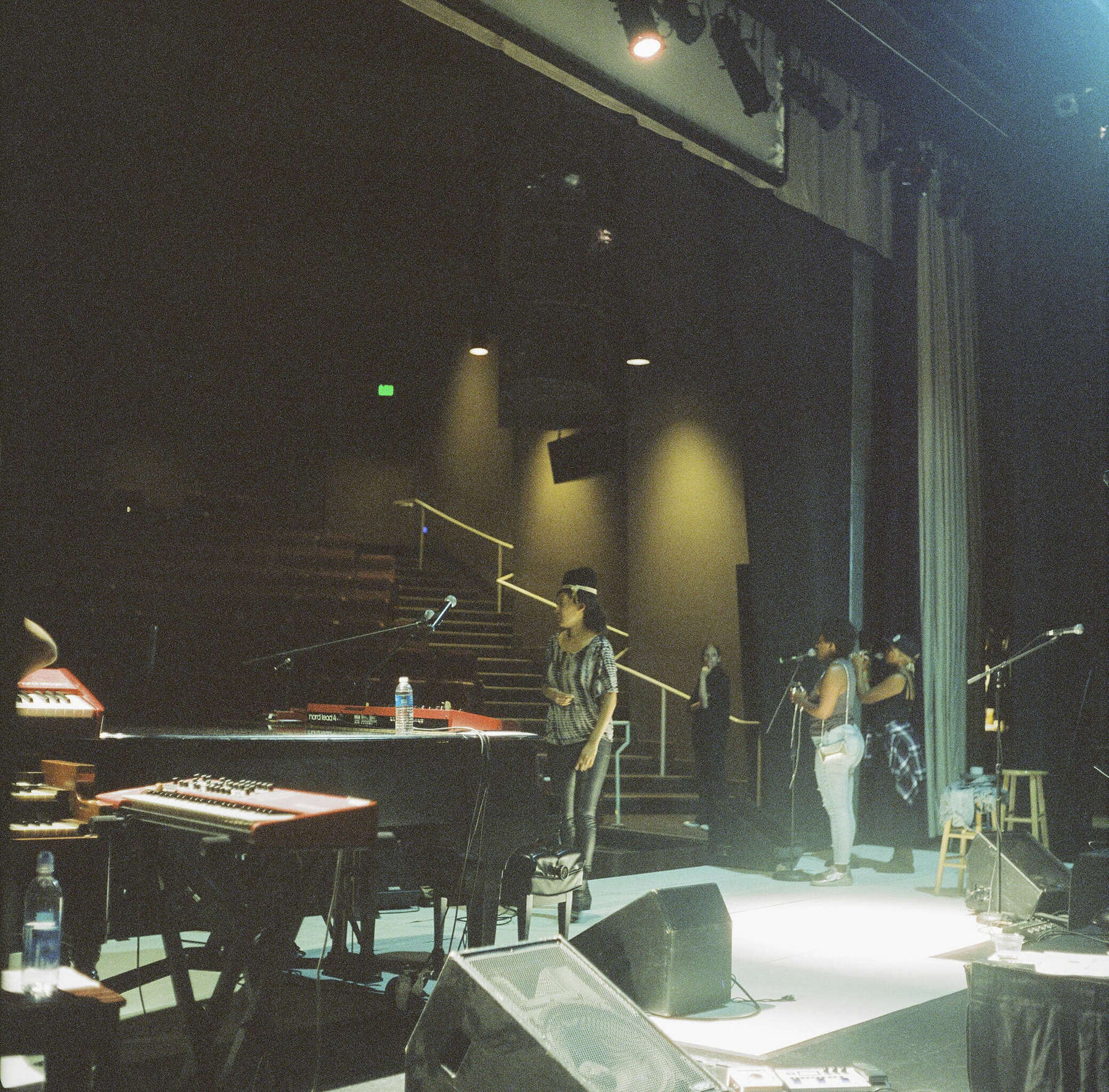 Sound check before concert