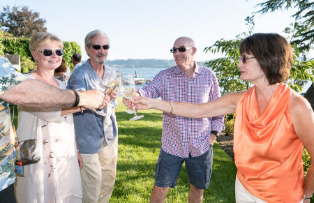 Auction Washington Wines Winemakers Dinner at Lakeside House Bash 2016